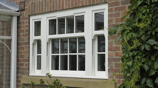 Wood sash window