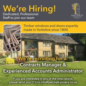 We're Hiring - Patchett Joinery