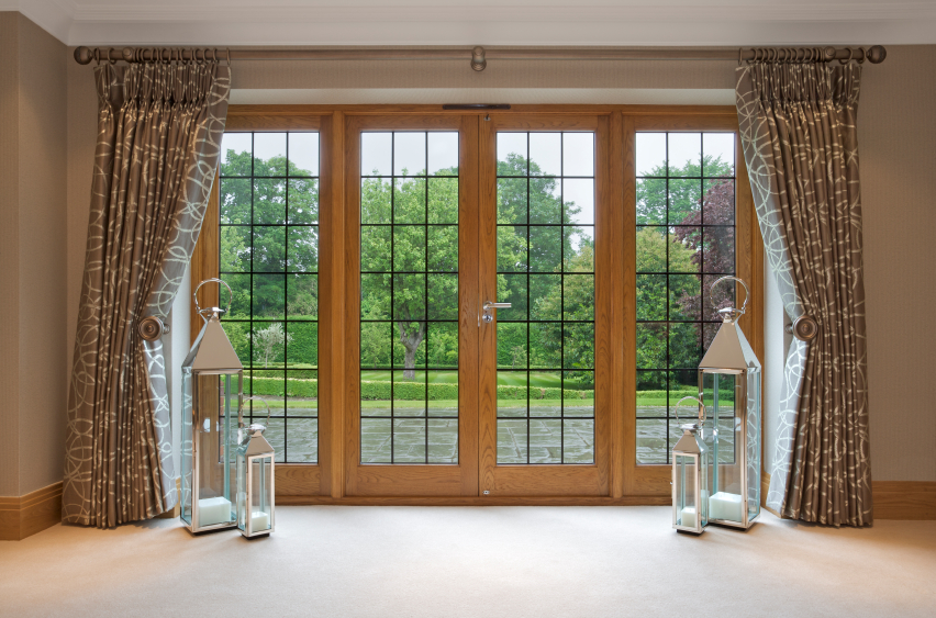 timber double doors